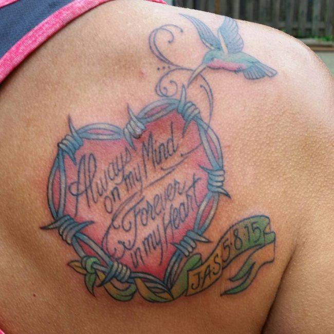 best memorial tattoo ideas on back