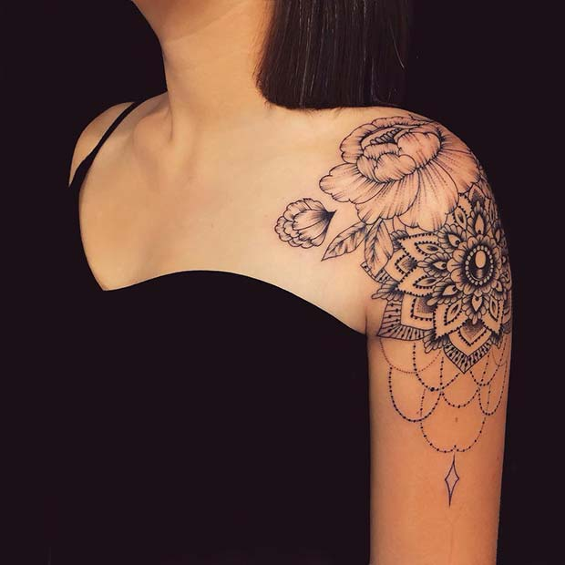mandala tattoo designs for female shoulder design