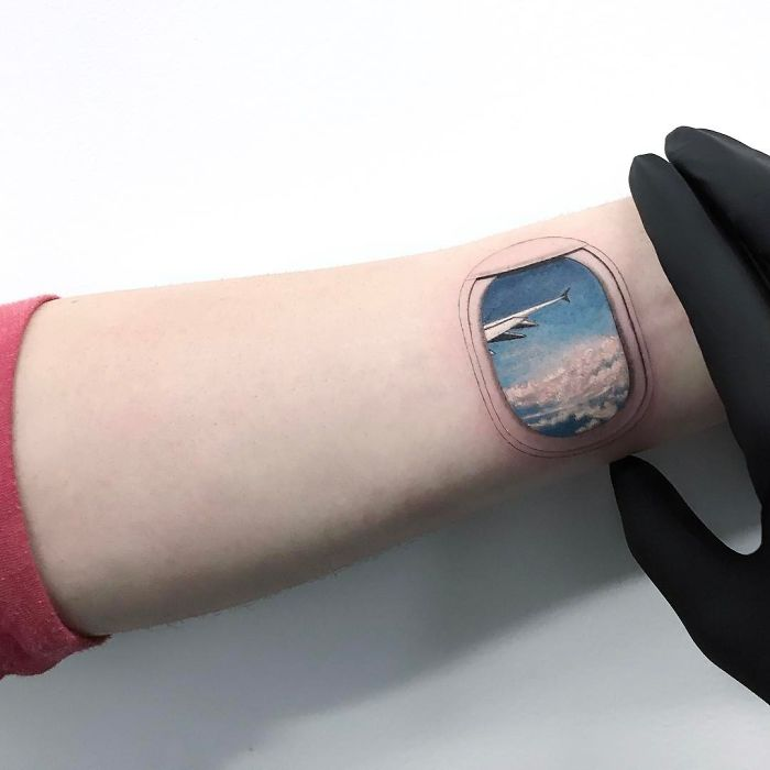 travel inspirational wrist tattoos