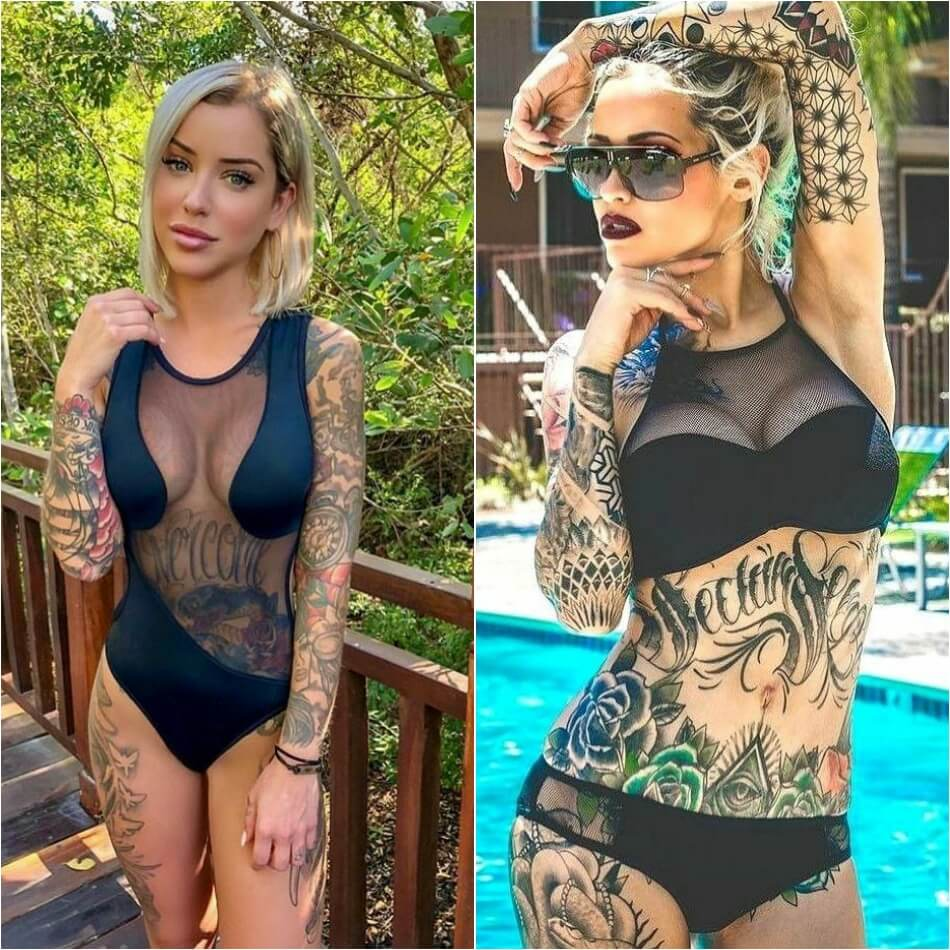 attractive full body tattoos for ladies