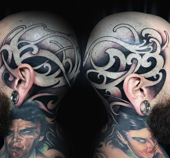 mens side head tattoos ideas