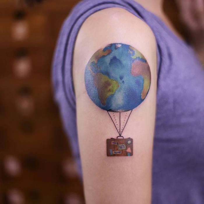travel tattoos for girls