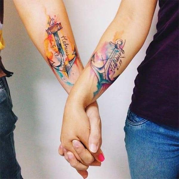 friends anchor tattoo designs for girls