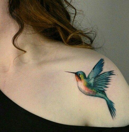 shoulder bird tattoos for women