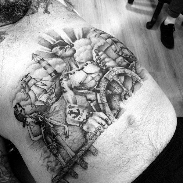temporary 3d mens lower stomach tattoos design