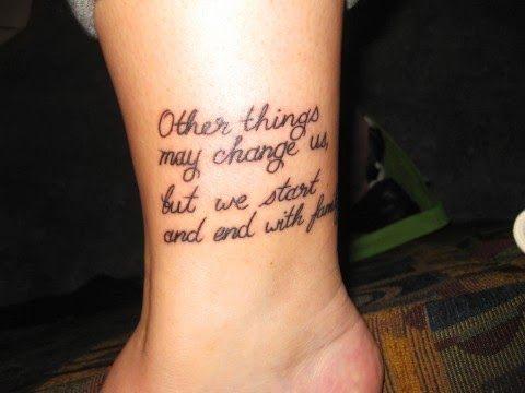 quotes tattoo ideas for men leg