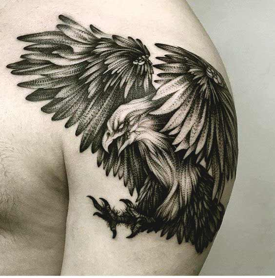 guardian tattoo designs on chest guys images