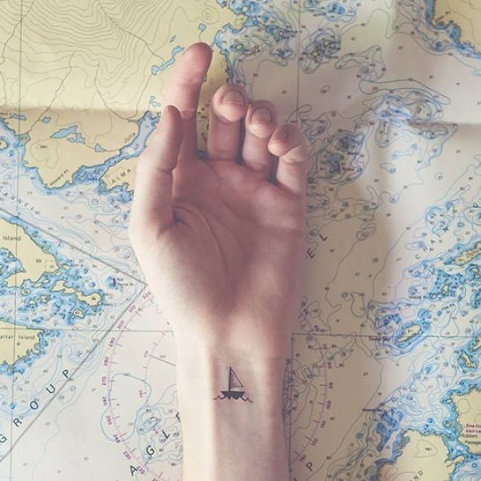 ship small tattoos for travelers