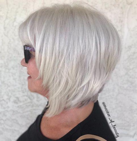 medium short grey hairstyles