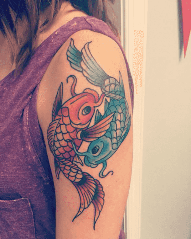 colour temporary tattoo ideas for ladies