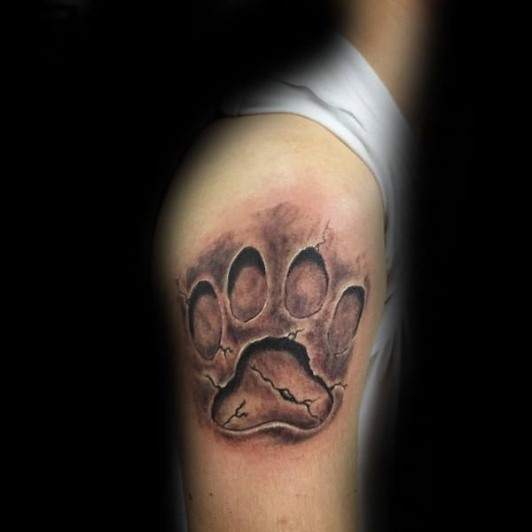 animal foot  designs  on arm for male
