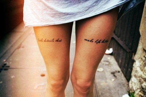 Latest Leg Quote Tattoos