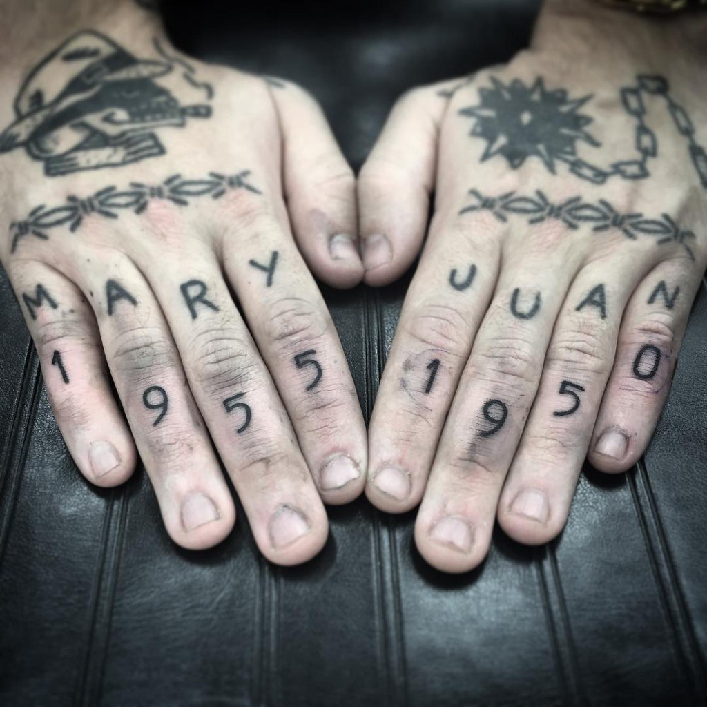 tattoos on fingers for guys