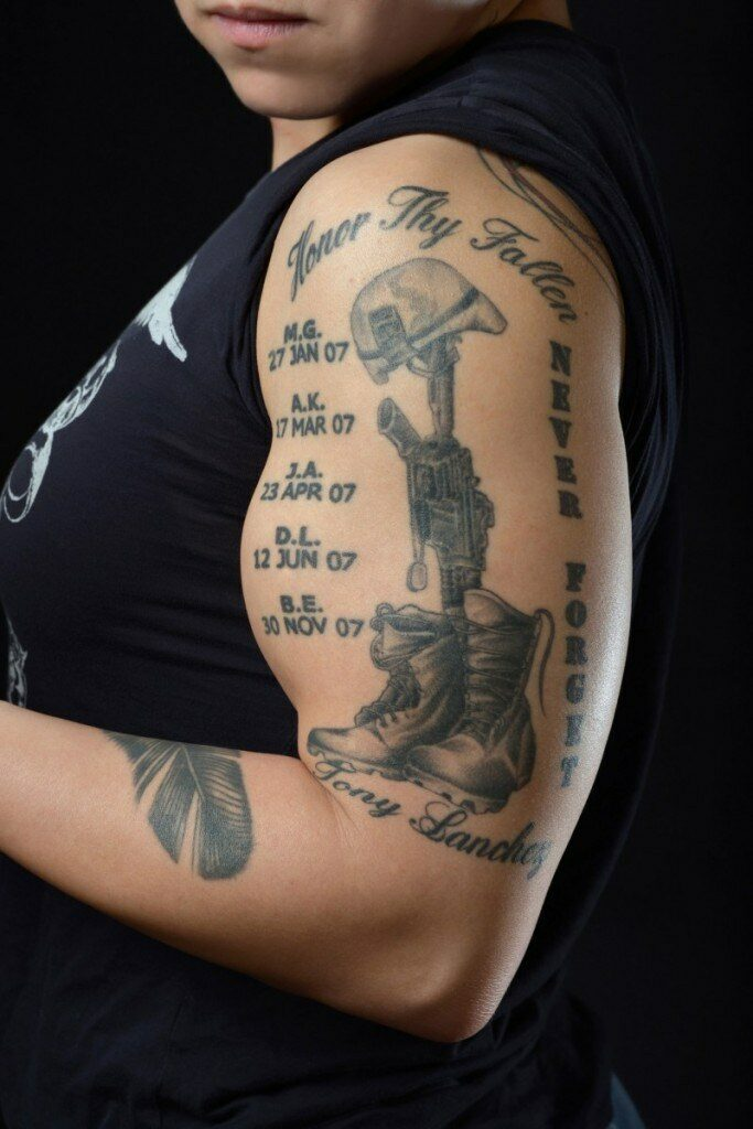 in memory of father tattoos