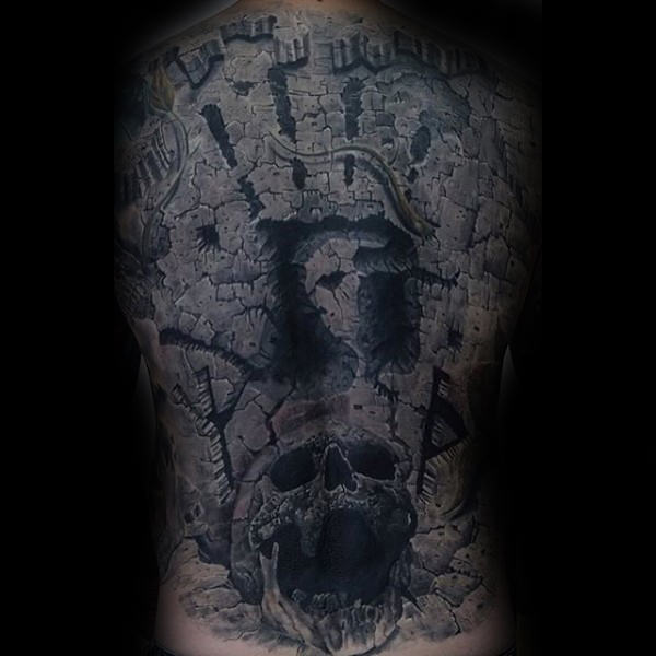 stone back  tattoo designs for male inspiration