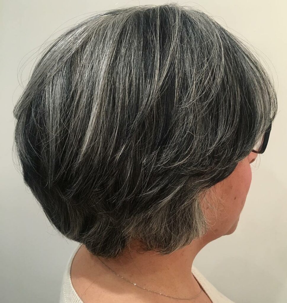 grey short hairstyles for over 50s