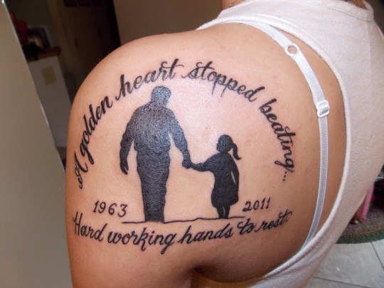 tattoos for remembrance of dad