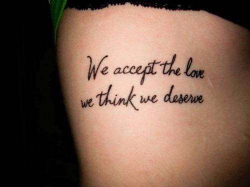 Beautiful leg quote tattoos for females