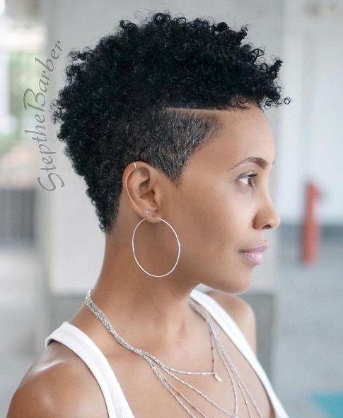 short wavy hair black for women