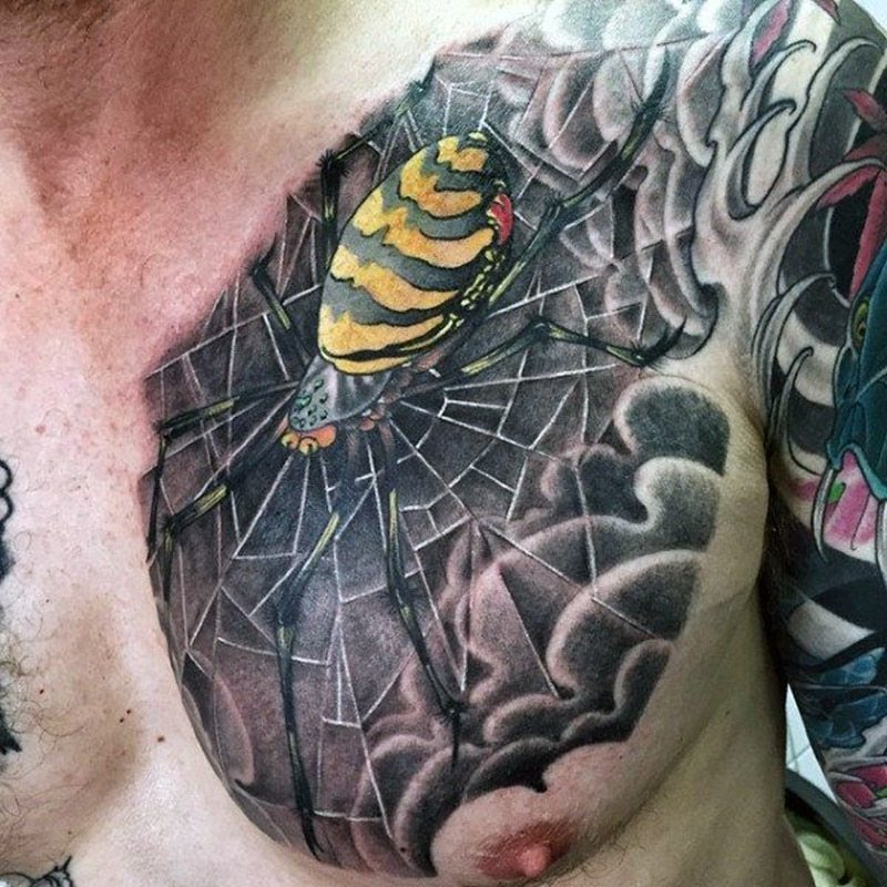 spider shoulder tattoo