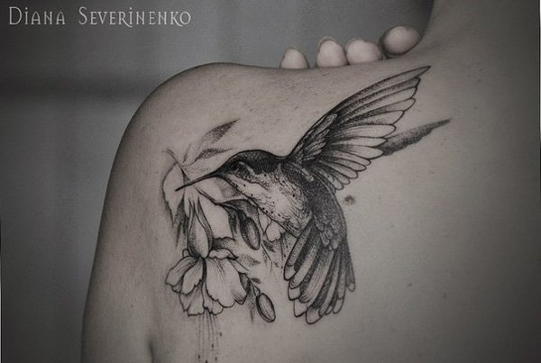 back  Cute and Artistic Bird Tattoo Designs women Want to Try