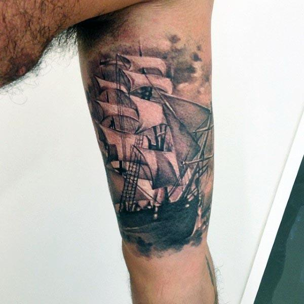 biceps ship temporary arm tattoos designs