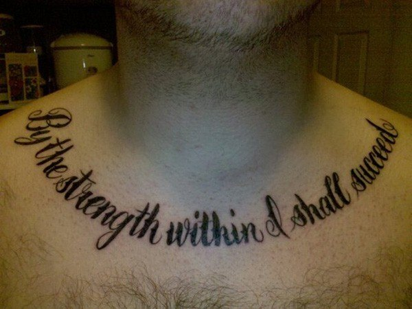 neck god quote tattoos for guys