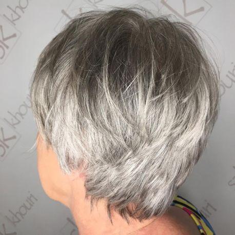 best short grey hairstyles