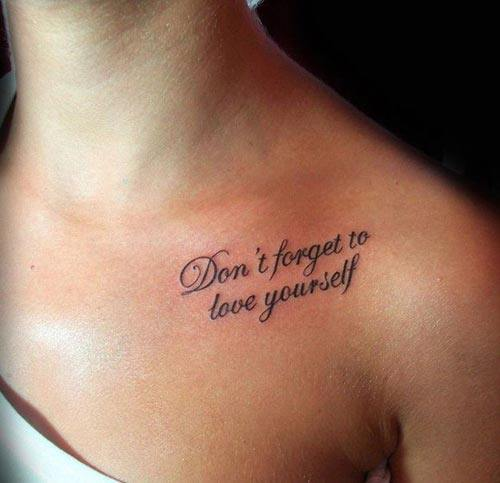 chest inspirational quote tattoos ideas