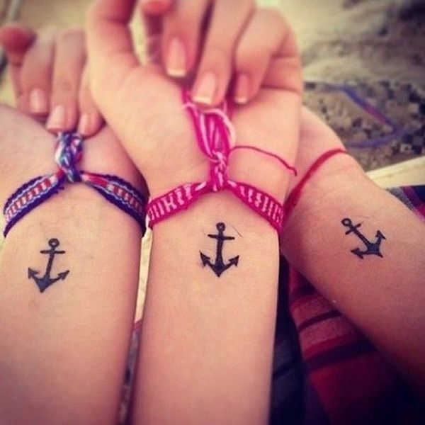 girs best friend anchor tattoos images