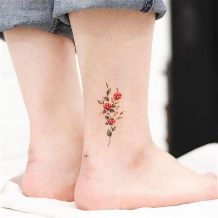 pretty single flower tattoos