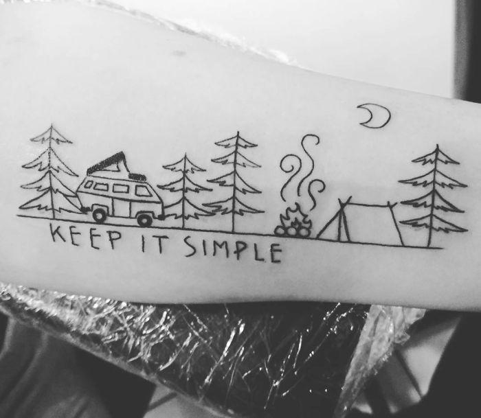 travel motivational tattoo ideas for guys