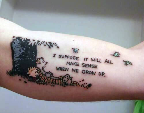 male quote tattoos on arm