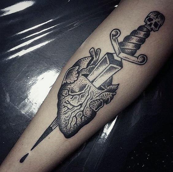 heart with a dagger through it