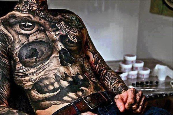 full abdominal tattoos for guys design ideas