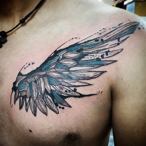 tattoo patterns of angels wings design images