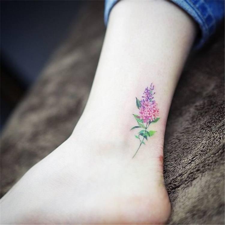 leg types of flower tattoos