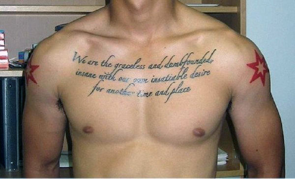 quote tattoo placement for guys