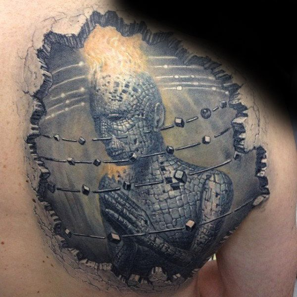 shoulder back  stone tattoo design images