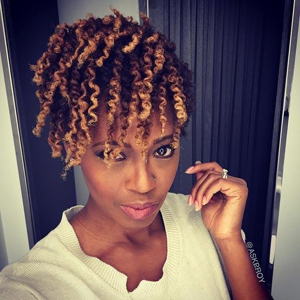 short natural haircuts for black females images