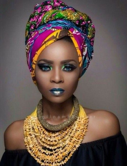 Scarf hairstyles and African