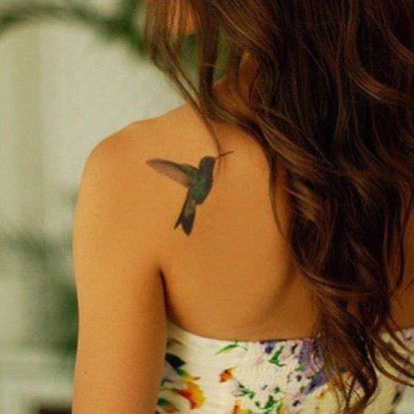 back colibri small bird tattoos for females