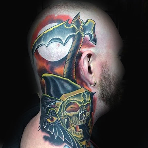 temporary viking head tattoos guys