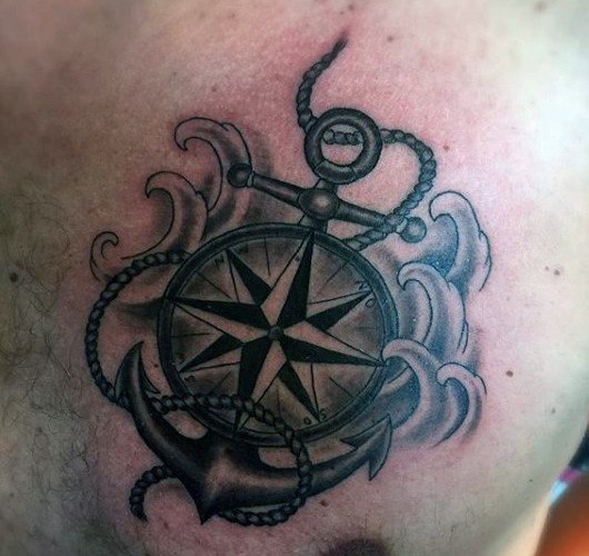 chest anchor tattoo images for men