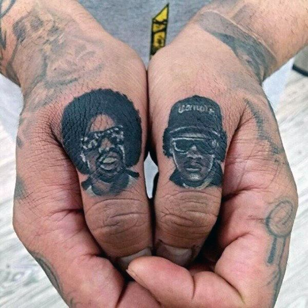 men finger tattoo inspiration