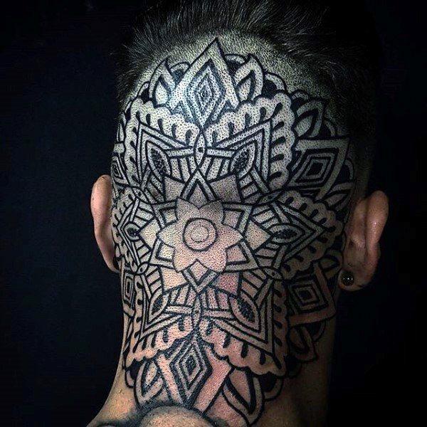 beautiful head tattoos