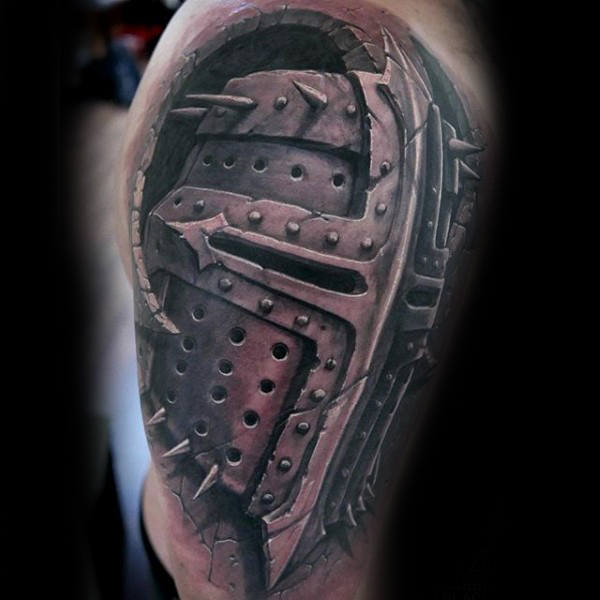 unique tattoo for guys and men on shoulder