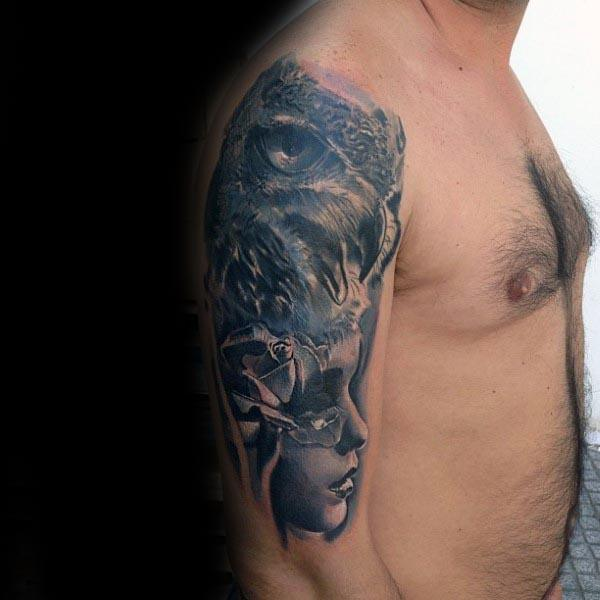 upper arm tattoos for guys men design ideas