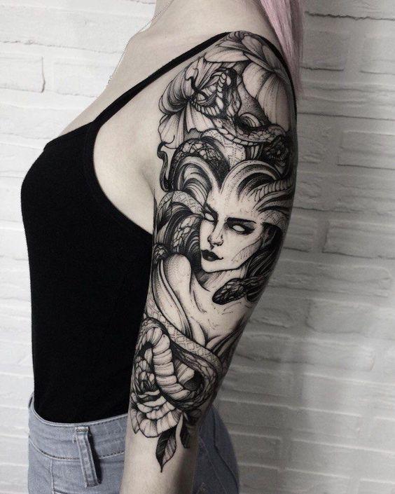 temporary medusa tattoo design images