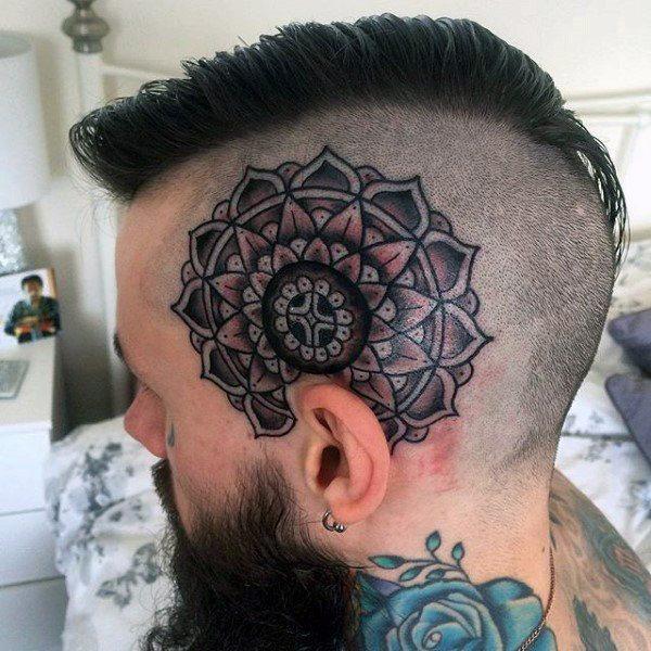 mandala tattoo side head